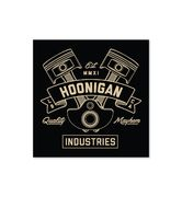 HOONIGAN CRANKED STICKER BLACK