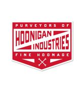 HOONIGAN PIT STOP STICKER RED/WHITE
