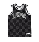 HOONIGAN CHECKERS MESH TANK BLACK