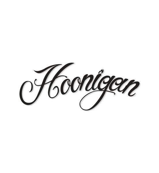 HOONIGAN FIRE SCRIPT STICKER BLACK
