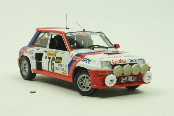 "1/18 RENAULT 5 TURBO 1984 NO:76 ""CARREFOUR"